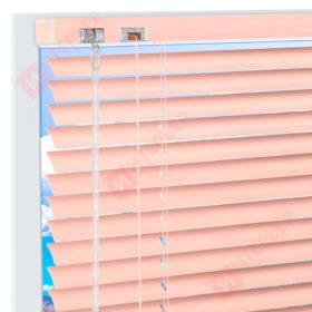 Горизонтальные алюминиевые жалюзи на пластиковые окна - цвет персиковый