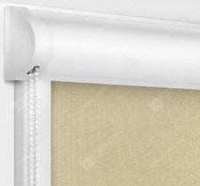 Рулонные кассетные шторы УНИ - Респект блэкаут светло-бежевый