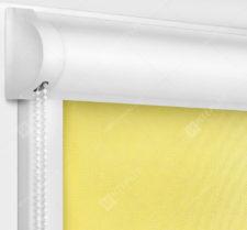 Рулонные кассетные шторы УНИ - Аллегро Перл желтый